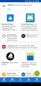 F-droid's home page