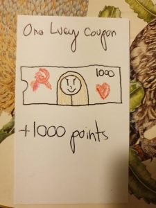 one lucy coupon - +1000 points