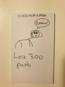 overstimulation - lose 300 points