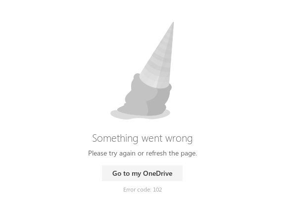 "a dropped ice cream cone captioned ""something went wrong"". what is microsoft even doing"